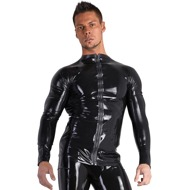 Shirt aus Latex mit Front-Zip